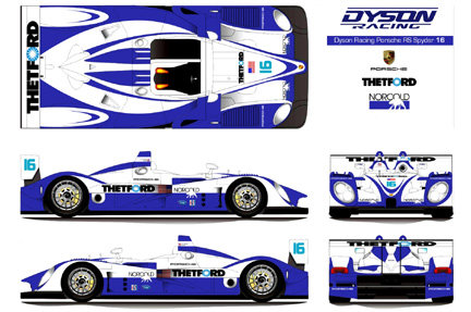 Porsche RS Spyder LMP2 Race Car Pictures