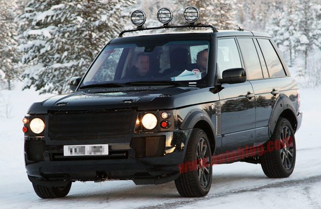 Spy Shots: 2013 Land Rover Range Rover mule spotted winter ...