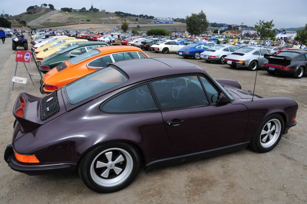 Porsche car corral at Rennsport Reunion IV