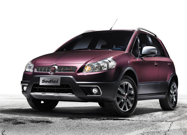 2012 Fiat Sedici - Front three-quarter view, purple static shot