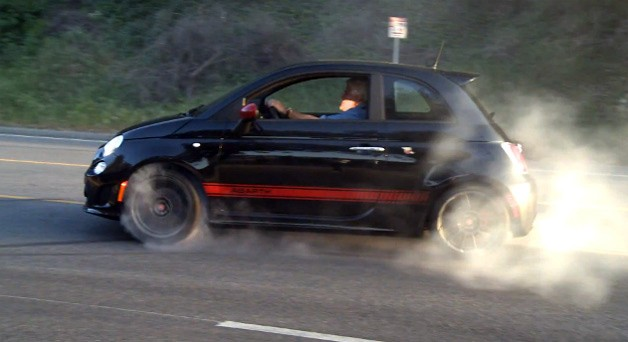 Video Jay Leno Burns Rubber In A Fiat 500 Abarth And All Info About