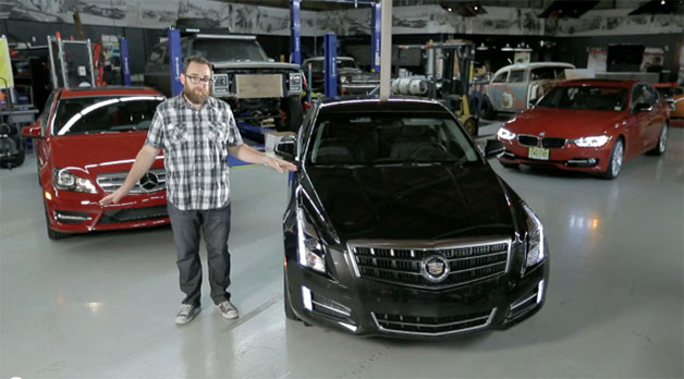 Jonny Lieberman with the Cadillac ATS, BMW 335i, and Mercedes-Benz C350