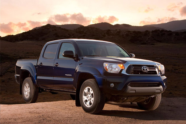 2013 Toyota Tacoma - front three-quarter view, on mountain