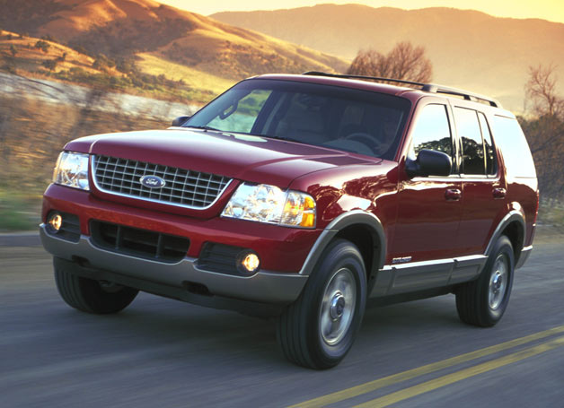 2002 Ford Explorer - front three-quarter view, maroon