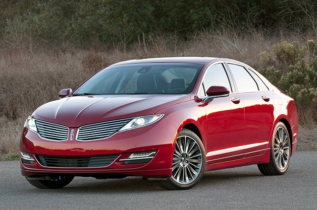 2013 Lincoln MKZ - Front three-quarter view, maroon