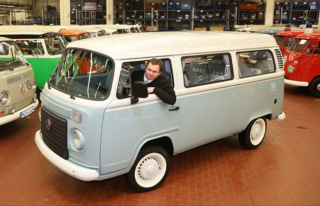 The last Volkswagen Type 2 Microbus rolls into the museum in Hanover