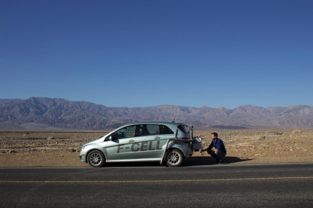 Diane Kruger and Joshua Jackson test hydrogen car in Death Valley