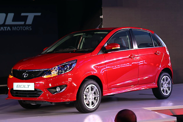 The Tata Bolt is unveiled at the Auto Expo in India