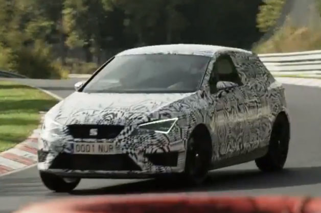 Seat Leon Cupra at the Nurburgring