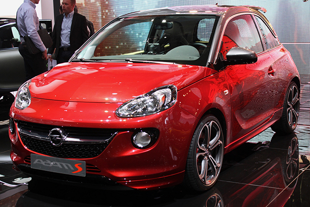 Opel Adam S at the 2014 Geneva Motor Show, front three-quarter view