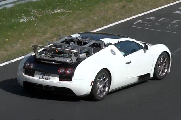Bugatti Veyron prototype at the Nurburgring