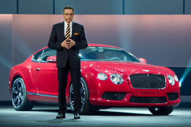 Bentley CEO Wolfgang Durheimer displays