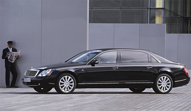 Maybach 62, front three-quarter view