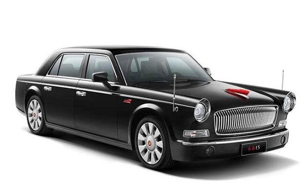 Hongqi L5, front three-quarter view