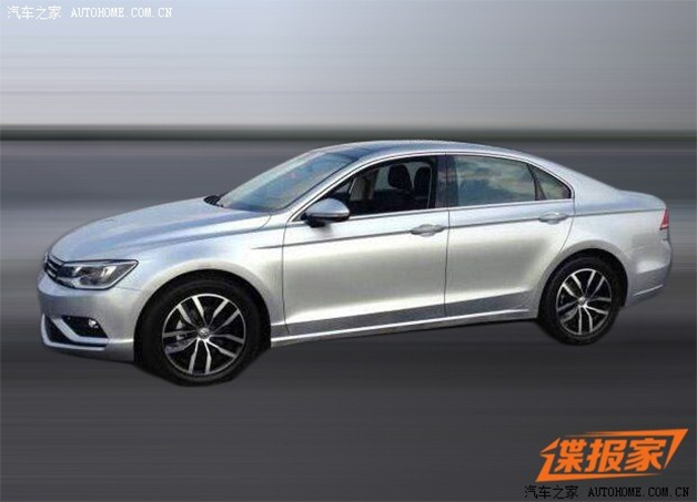 Spy shot of the Volkswagen New Midsize Coupe taken in China.