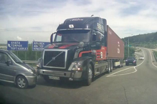 Russian Truck Stopping