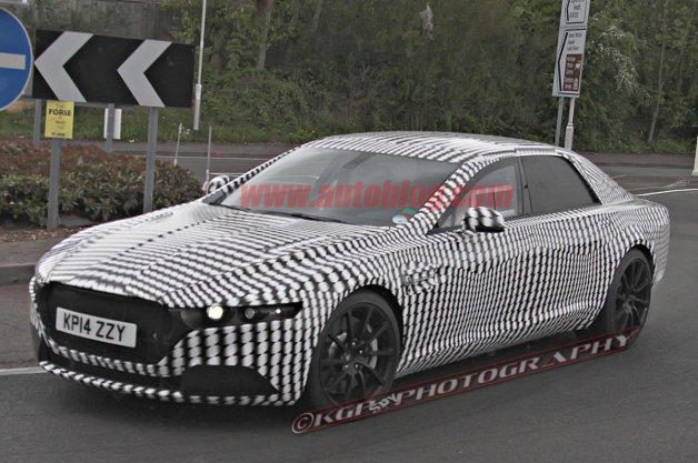 Aston Martin Lagonda sedan spy shot