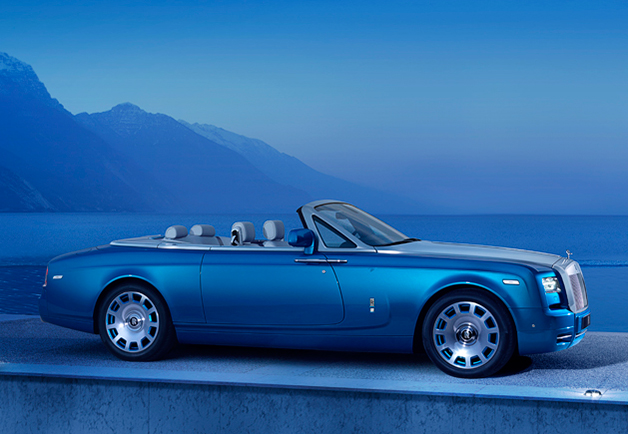 Rolls-Royce Phantom Drophead Coupe Waterspeed Edition, front three-quarter view.