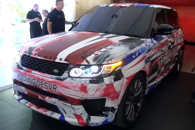 Land Rover Range Rover Sport SVR uncrated