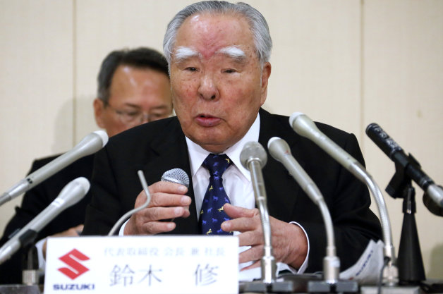 Suzuki Motor Corp. Chairman Osamu Suzuki Attends Full-Year Earnings News Conference