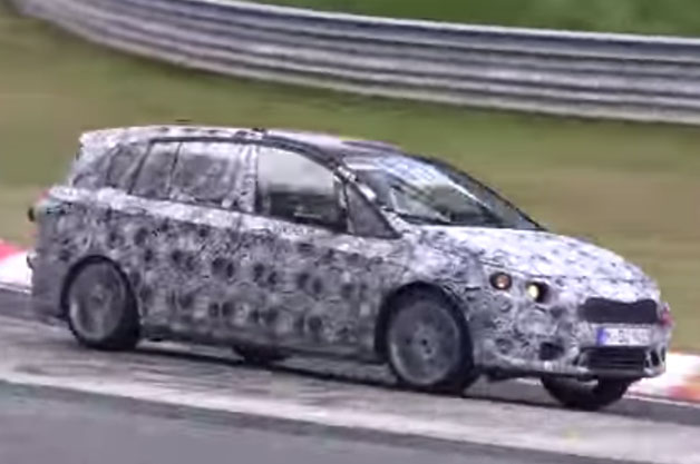 BMW 2 Series Active Tourer 7-Seater prototype on the Nurburgring