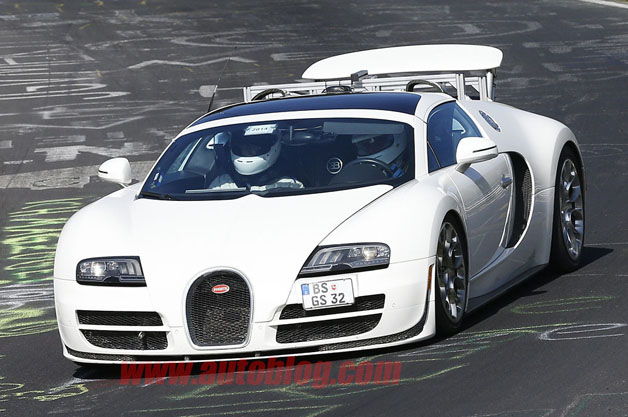 Bugatti Veyron Vitesse prototype at the Nurburgring
