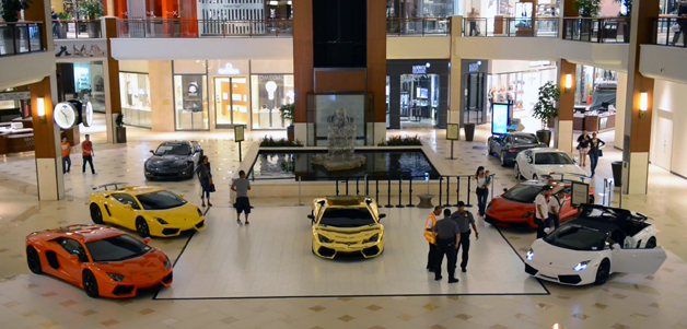 Lamborghinis in mall