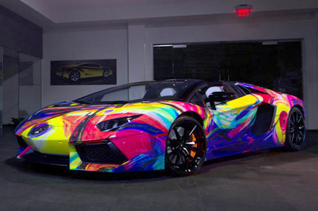 Lamborghini Aventador Roadster art car by Duaiv