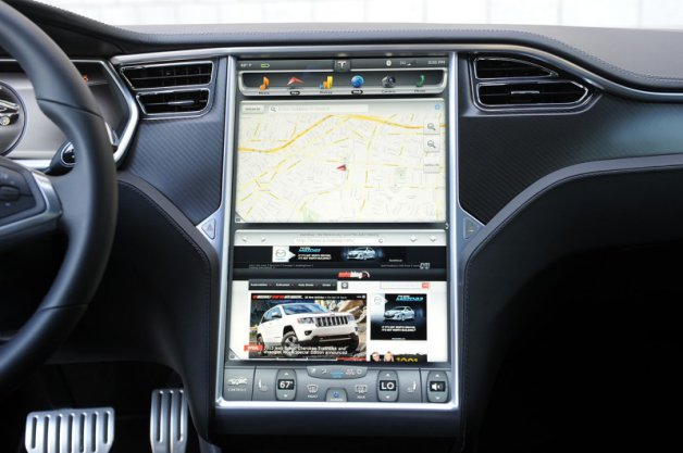 Tesla Model S Nav Screen