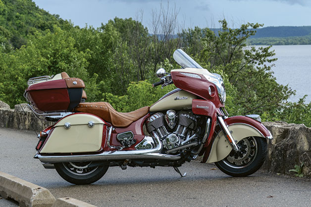 2015 Indian Roadmaster, side view.