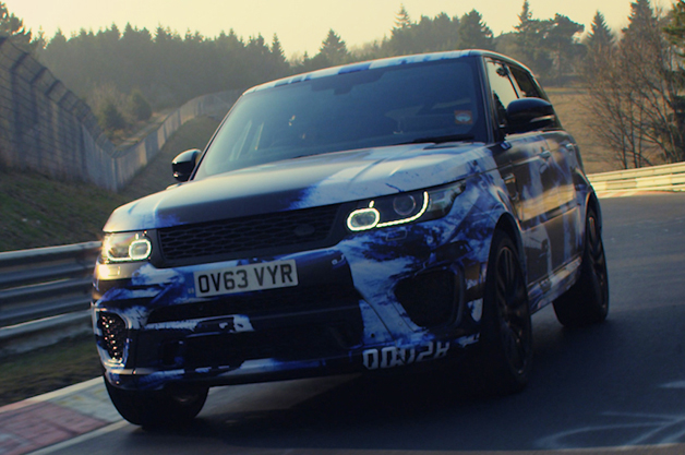 Land Rover Range Rover Sport SVR at the Nurburgring