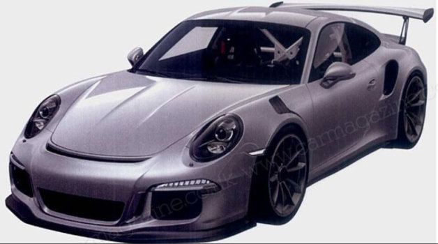 Porsche 911 GT3 RS patent photos