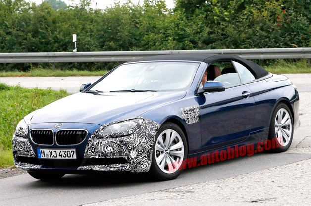 BMW 6 Series Convertible spy shots