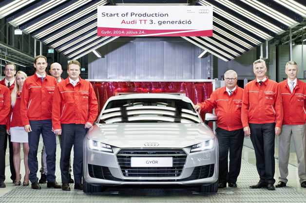 Audi TT production at Gyor